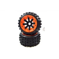 MadMax Big Digger Tyres On Black 8 Spoke Rear Wheels