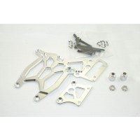 KM Alloy Rear Upper & Brake Plate - Silver