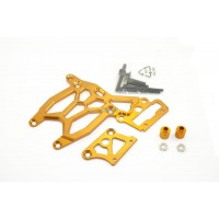 KM Alloy Rear Upper & Brake Plate - Orange