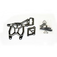 KM Alloy Rear Upper & Brake Plate - Dark Knight