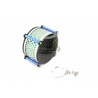 GTB Racing Carbon Fiber Alloy 2 Stage Air Filter Blue