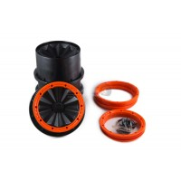 MadMax Full Closed Rims With Beadlocks Black & Orange
