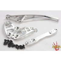 Area RC Aluminum Front Chassis Brace set for MCD RR5 - Silver