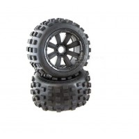 MadMax 8 Spoke Black Wheels with Black Beadlocks, Big Digger Tyres
