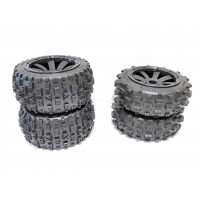 MadMax Bow Tie Tyres On 8 Spoke Rims - Complete Buggy Wheel Kit