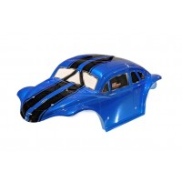 Beetle Body Blue with Black Stripes