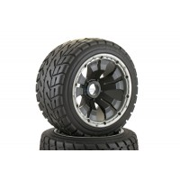 Road Tyre Buggy Wheels Black Poison Rims Rear Pair