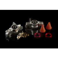 FID Racing Billet Alloy Front Hub Carriers - Silver