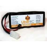 UberRC 5000mAh 6.0V NiMH Pro Series Side by Side Battery Pack for KM X2 5ive-T