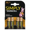 Duracell Simply AA 1.5v Power Battery Pack Alkaline LR6 MN1500