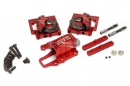 GTB Racing Alloy Center Diff Mounts & Adjustable Calipers - For Losi DBXL - Red