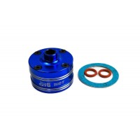 GTB Racing Alloy Front/Middle/Rear Diff Gear Case - Blue