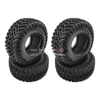 "RC Crawler Tyres with Foams for 1.9"" Wheels (107x45mm)"
