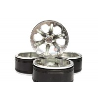 ATOP RC TRX4 1.9 inch Wheels with Metal Hub Silver