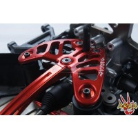 Area RC Aluminum Front Chassis Brace set for MCD RR5 - Red