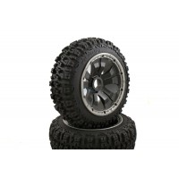Pioneer Buggy Wheels Black Poison Rims Front Pair