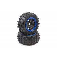 MadMax Giant Grip - Blue/Black Wheels (2pc)