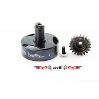 GTB Racing Vented Clutch Bell with 19 Tooth Pinion - KM X2/Losi 5T/30DNT,DNB