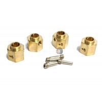 Atop RC Traxxas TRX-4 Brass Wheel Hub Extenders +5mm