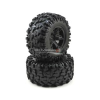 Traxxas Wheels, assembled, glued (X-Maxx black wheels, Maxx AT Tyres, foam inserts) (left & right) (2pcs)