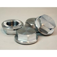 Uber RC Enclosed Wheel Nuts 5ive-T - x4 Silver Billet