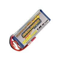 1600mAh 2S 7.4v 35C LiPo Battery - Overlander Supersport Pro