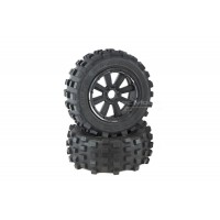 MadMax Giant Grip - Black on Black Wheels (2pc)