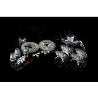FID Racing Front / Rear Hydraulic Disc Brake - Silver