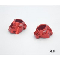 All Racing Traxxas TRX4 Aluminium Caster Blocks (2) - Red