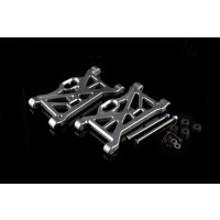 FID Racing Alloy Front or Rear Suspension Arm for the Losi DB XL Silver Pair