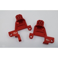 All Racing Traxxas TRX4 Alloy Front Shock Towers - Red