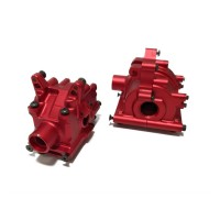 5ive-T Front+Rear Alloy Diff Case Red (Minor Blemishes)