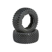 Losi Tyre Set, Firm (2): 5ive-T 2.0