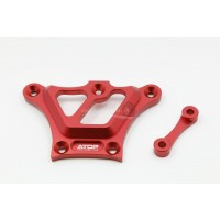 ATOP RC Front Top Chassis Brace - Red