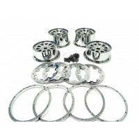 Rovan Buggy Chrome Plated Plastic Rims Set