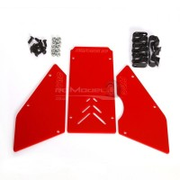 Full-Force RC Front/Side Window Set for HPI Baja 5B - Red