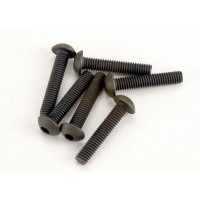 Traxxas Screws, 3x15mm button-head machine (hex drive) (6)