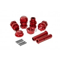 ATOP Baja Alloy Axle Extenders & Nuts - Red