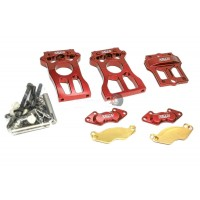 Area RC Alloy 2Pc Centre Diff Mount Red