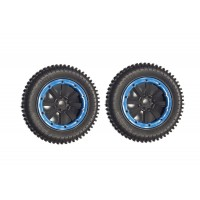 MadMax Maxi Pin Wheels Black/Blue (2pc)