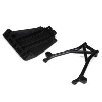 Losi Front Skid Plate,Bumper Brace & Spacers: 5IVE-T