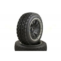 Dirt Buster Buggy Wheels Black Poison Rims Front Pair