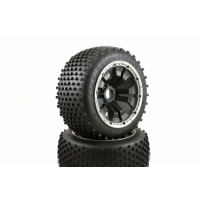 Dirt Buster Buggy Wheels Black Pioson Rims Rear Pair