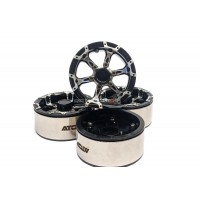 Atop Rc 2.2 Alloy 6 Spoke Beadlock Wheels Set Black