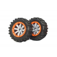 MadMax Giant Grip Orange & Grey Wheels (2pc)